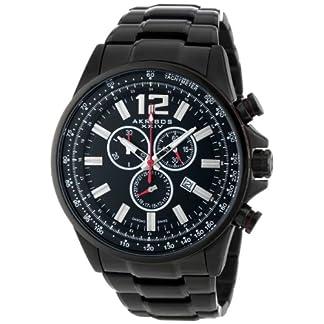 Schweizer-Chronograph-Conqueror-AK619BK-fr-Herren-aus-schwarzem-Edelstahl-Armbanduhr-von-Akribos-XXIV