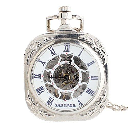 Orrorr-Uhr-Taschenuhr-Halb-Automatik-Handaufzug-Mechanisch-Kette-Pocket-Watch-Geschenk-Gift-reloj-de-montre-de-F131