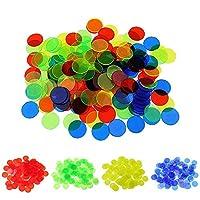 EXQULEG-400-Stck-Transparente-Bingo-Chips-Zhler-Plastik-4-Farben