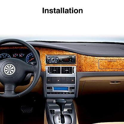 Lypumso-Bluetooth-Autoradio-fr-Das-Armaturenbrett-1-DIN-ISO-Stecker-mit-kabelloser-Fernbedienung-Autoradio-FM-Radio-MP3-Player-AUX-Audio-mit-USB-SD-MMC-Port-Autoradio