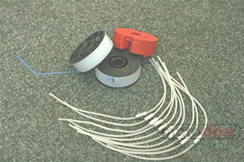Faden-und-Spulen-Set-Florabest-FRt-5008-Rasentrimmer-Florabest-LIDL-2x-Spule-10x-Faden-1x-Halter
