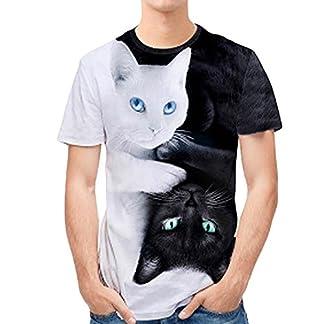 Zolimx-Herren-T-Shirt-Kurzarm-Rundhals-Ausschnitt-und-Brusttasche-Aus-Hochwertiger-Mehrfarbig-3D-Print-Double-Cat-beilufige-Dnne-kurzrmelige-Shirt-Top-Bluse