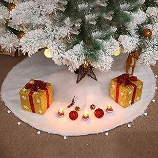 LAEMILIA-Weihnachtsbaum-Rock-Weihnachtsdecke-Weihnchten-Tannenbaum-Unterlegdecke-Weihnachtsbaumdecke-Christbaumstnder-Wei-Plsch-Weihnachtsdekoration-7890cm