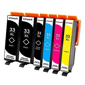 Uniwork-Druckerpatronen-Kompatibel-fr-Epson-33XL-fr-Epson-Expression-Premium-XP-900-XP-830-XP-7100-XP-645-XP-640-XP-635-XP-630-XP-540-XP-530-6-Pack