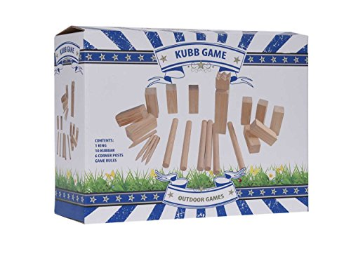 Kubb-Echt-Holz-Wikinger-Spiel-Wurfspiel-22tlg