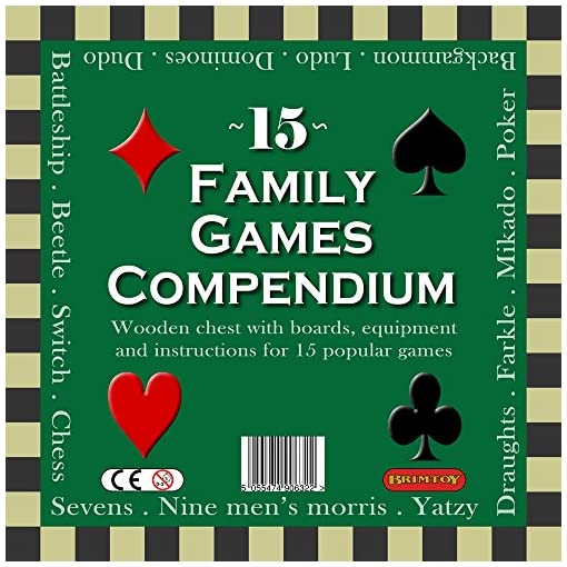 Deluxe-gro-15-Familie-Spiele-Kompendium-Dice-Games-Board-Games-Card-Games-More