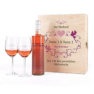 factory outlets super specials purchase cheap Leonardo Edles Weinset Geschenk zur Hochzeit mit BREE Rosé Wein, Leonardo  Weingläsern u. persönlicher Gravur