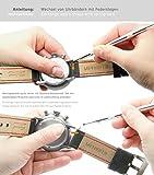 Meyhofer-Uhrenarmband-Yonkers-Classic-18mm-schwarz-Leder-Racing-Look-Karbon-Optik-abgenht-Mycsklb7010