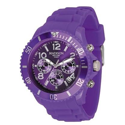 Madison-New-York-Unisex-Armbanduhr-Candy-Chrono-Chronograph-Silikon-U4362-01