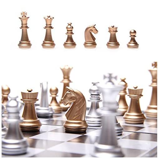 WLot-Schachspiel-magnetisch-Schach-mit-tragbaren-Faltung-Schachspiel-Brett-Reisespiel-Strategiespiel-fr-Kinder-und-Erwachsene