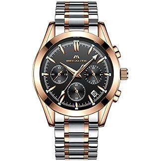 Herren-Edelstahl-Uhren-Mnner-Chronograph-Luxus-Design-Wasserdicht-Datum-Kalender-Leuchtend-Armbanduhr-Geschfts-Beilufig-Mode-Kleid-Sport-Analog-Quarz-Uhr-mit-Rosegold-Gehuse-Schwarz-Zifferblatt