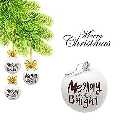 FeiliandaJJ-3PCS-6CM-Weihnachtskugel-Wei-Kugel-Weihnachten-Deko-Anhnger-Christbaumkugeln-fr-Weihnachtsbaum-Party-Home-Hochzeit