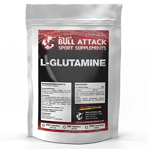 L-Glutamine 500 Tabletten á 500mg | Beliebte Aminosäure für die Unterstützung von Muskelaufbau, Regeneration und Muskelvolumen | Premium Qualität nach GMP und HACCP Standards