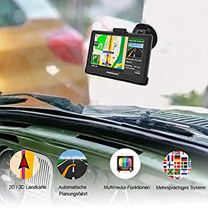 AWESAFE-GPS-Navi-Navigation-fr-Auto-LKW-PKW-KFZ-5-Zoll-Touchscreen-Sprachfhrung-Lebenslang-Kostenloses-Kartenupdate-mit-Navigationsgert-Halterung