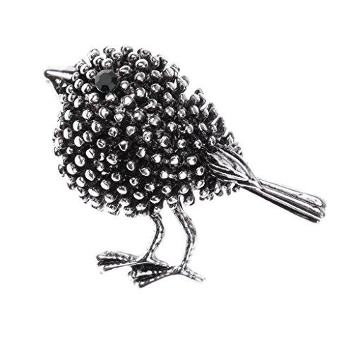 MagiDeal Vintage Blume/Vögel/Flamingo/Insekt/Erbse Stil Strass Brosche Pin Ansteckernadel Sicherheitsnadel Modeschmuck