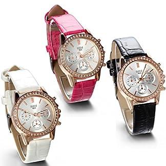JewelryWe-Damen-Armbanduhr-Analog-Quarz-Fashion-Exquisite-Leder-Armband-Uhr-mit-Strass-Zifferblatt-Rosa-Schwarz-Wei