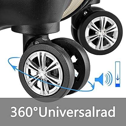 FROADP-3tlg-Gepck-Set-Leichtgewicht-ABS-Hartschalen-Koffer-Mehrere-Gren-Reise-Handgepck-Trolley-mit-Sicherheitscode-sperren-und-360-Drehbares-Dmpferrad