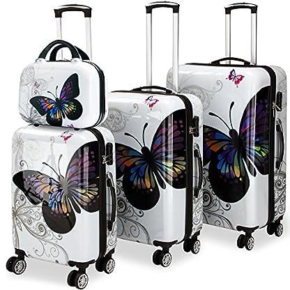 Monzana-Hartschalenkoffer-Set-mit-Schloss-Beautycase-3tlg-4tlg-Set-360-Zwillingsrollen-Gre-M-L-XL-Reisekoffer-Koffer-Trolley
