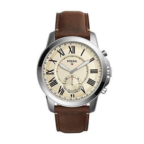 Fossil-Herren-Hybrid-Smartwatch-Q-Grant-Leder-Analoge-Herrenuhr-im-Klassischen-Vintage-Stil-mit-SmartfunktionenFr-Android-iOS
