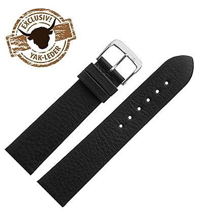 MARBURGER-Uhrenarmband-17mm-Leder-Schwarz-Rindsleder-Uhrband-Set-5251710000120