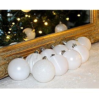 Unbekannt-Set-XXer-Christbaumkugeln-Weihnachtsbaumkugeln-Weiss-Kugel-PVC-bruchfest-Weihnachten-X-cm-