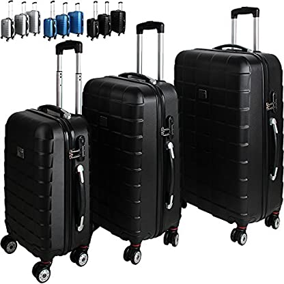 Monzana-3er-Kofferset-Farbwahl-gummierte-Zwillingsrolle-ABS-Schale-Alu-Teleskopgriff-Hartschalenkoffer-Reisekofferset-Koffer-Trolley
