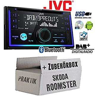 Autoradio-Radio-JVC-KW-DB93BT-2-DIn-DAB-Bluetooth-MP3-USB-Einbauzubehr-Einbauset-fr-Skoda-Roomster-Praktik-JUST-SOUND-best-choice-for-caraudio