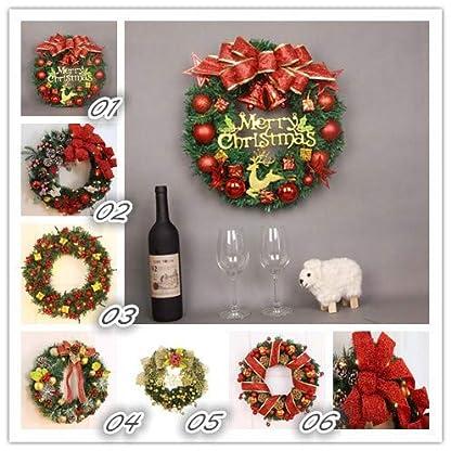 Prevently-35cm-Weihnachtskranz-fr-tr-deko-auenBogen-Christbaumkugeln-Weihnachtsdeko-Trkranz-Deko-Kranz-Weihnachten