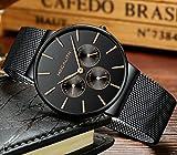 Herren-Edelstahl-Mesh-Armband-Uhren-Mnner-Wasserdicht-Datum-Kalender-Geschfts-Klassisch-Analog-Quarz-Dnn-Armbanduhr-Gents-Luxus-Elegant-Kleid-Schwarz-Uhr-mit-Schwarz-Zifferblat