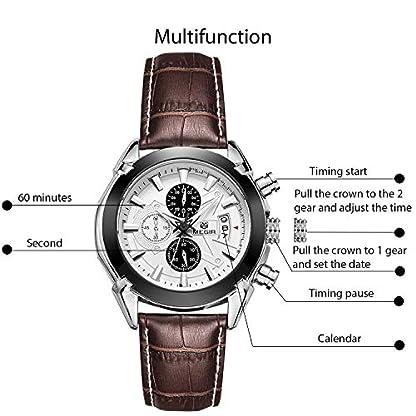 RORIOS-Herren-Armbanduhren-Leder-Armband-Edelstahl-Kalender-Leuchtend-Stoppuhr-Multifunktionen-Herrenuhr