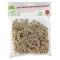 Lena-32005-Bastelset-Buchstabenwrfel-aus-Holz-Set-mit-300-Fdelperlen-in-Wrfel-Form-und-mit-Buchstaben-Holzperlen-Set-fr-Kinder-ab-3-Jahre-Perlen-Set-zum-selber-gestalten-von-Schmuckketten