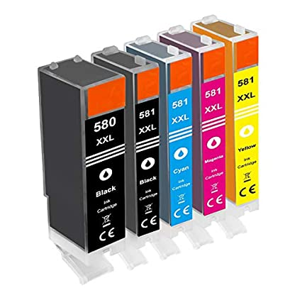 Gorilla-Ink-Patronen-kompatibel-fr-Canon-Pixma-PGI-580-XL-CLI-581-XL