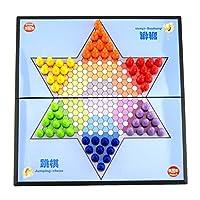 Baoblaze-Faltbar-Tragbar-Schachbrett-Magnetische-Halma-Strategiespiel-Intelligenz-Spielzeug