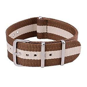 182022mm-Herren-Damen-Nylon-Nato-Militr-Uhren-Armband-Uhrenarmbnder-Uhrband-Watch-Band-Watch-Strap-Uhr-Unisex-Kaffee-und-Gelb-Dornschliee