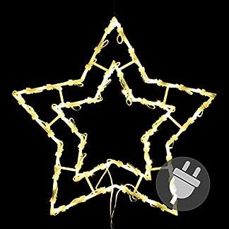 Weihnachtsstern-50-LED-warm-wei-Fensterbild-Fensterschmuck-Weihnachtsdeko-Auendeko-Fensterlicht-Fensterstern-Dekostern-Leuchtstern-Adventsstern