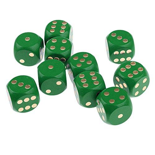 MagiDeal-10-Stk-Sechsseitig-D6-Wrfel-fr-Brettspiel-aus-Holz