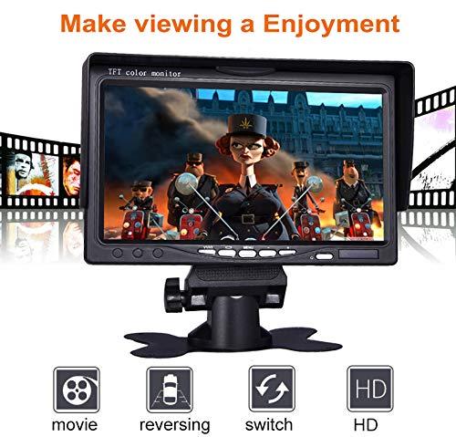 Lychee-Rckfahrkamera-7-Zoll-TFT-LCD-Monitor-fr-Auto-KameraLED-Hintergrundbeleuchtung800-x-480-hoher-Auflsungmit-Fernbedienung-und-Montagehalterung