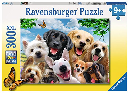 Ravensburger-13228-hocherfreut-Hunde-300-Teile-XXL-Puzzle