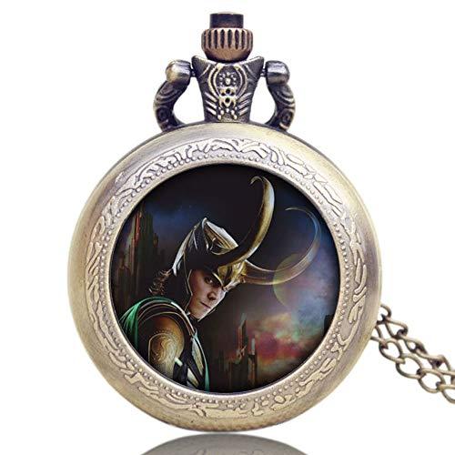 Herren-Armbanduhr-Avengers-Loki-Classic-Adventure-Mythologie-Taschenuhr-Quarz-Geschenk-fr-Herren
