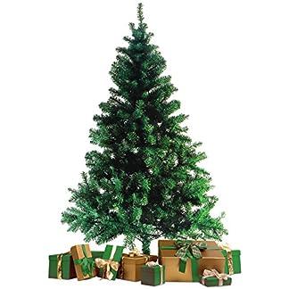 Wohaga-Knstlicher-Weihnachtsbaum-Tannenbaum-inklusive-Christbaumstnder-180cm-600-Spitzen-Weihnachtsdekoration-knstliche-Tanne