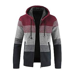 Zolimx-Herren-Winter-Cardigan-Strickjacke-Mantel-Casual-gestreiften-Zipper-Hoodie-Pullover-Bluse-Mntel-Samt-Sweatpullover-Outwear-Tops