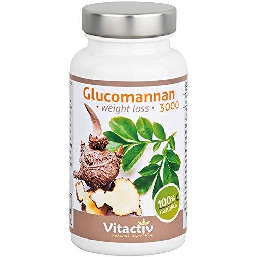 GLUCOMANNAN 3000 weight loss – Der natürliche Appetitzügler mit wissenschaftlich bewiesener Abnehm-Wirkung (90 Konjakwurzel Kapseln)