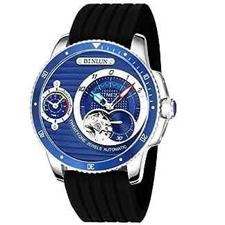 BINLUN-Herren-Analog-Automatik-Uhr-mit-Leder-Armband-FFBL0083G-SL