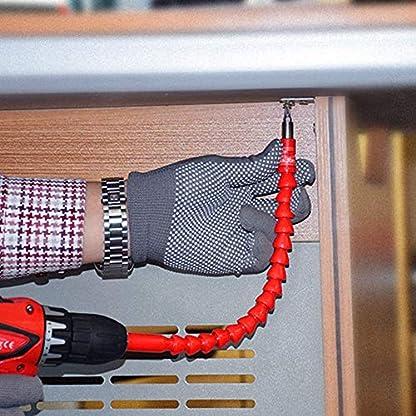 Lanking-Flexible-Schaft-295mm-Flexibler-Sechskant-Flex-Erweiterungs-Bits-Autoreparaturwerkzeuge-fr-Computergehuse-Mbel-elektrischeSchwarz