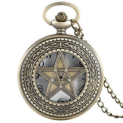 Pentagram-Vintage-Herren-Taschenuhr-Bronze-Hollow-Five-Pointed-Star-Taschenuhr-Kette-Taschenuhr-Halskette-Quarzuhr-Geschenk-fr-Herren