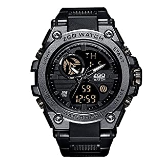 Herren-Jugendliche-Uhren-Militr-Analogue-Digital-Sport-Wasserdicht-Gro-LED-Schwarz-Armbanduhr-Mnner-Multifunktions-Wecker-Stopuhr-Casual-Quarz-Gummi-Uhr