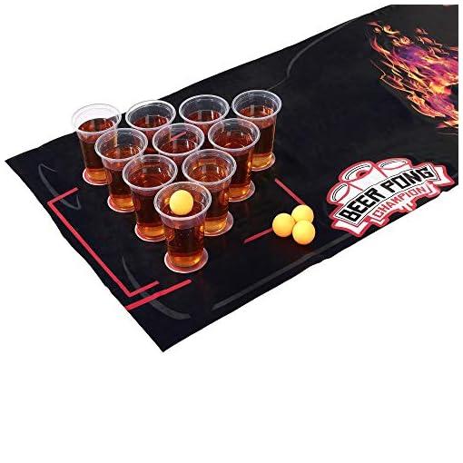 Deluxe-Beer-Pong-Set-180x60cm-wasserfeste-und-reifeste-Matte-groe-Becher-4-Beer-Pong-Blle–Das-Trinkspiel–BRANDNEU