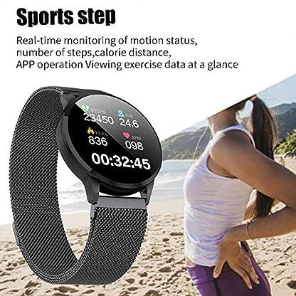 AGUEST-Smart-Watch-Fitness-Tracker-Uhr-IP67-Wasserdichter-Aktivitts-Tracker-PulsmesserBlutdruckmessgert-Schrittzhler-Schlaf-Monitor-fr-Damen-Herren-IOSAndroid