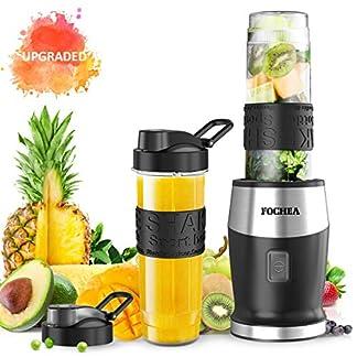 Mixer-Smoothie-Maker-FOCHEA-Standmixer-500-Watt-Mini-Smoothie-Mixer-Multifunktion-Smoothiemaker-mit-2-Sport-Flasche-BPA-frei-Tritan570ml-fr-Smoothies