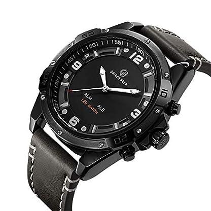 Herren-Armbanduhr-Fashion-Sport-LED-Uhren-Herren-Lederband-Wasserdicht-Quarz-Digital-Militr-Armee-Elektronische-Uhren